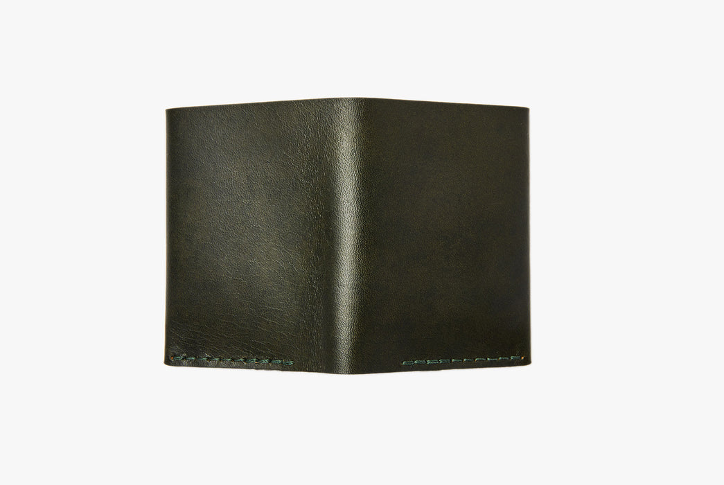 Green Bifold Wallet - Rear View
