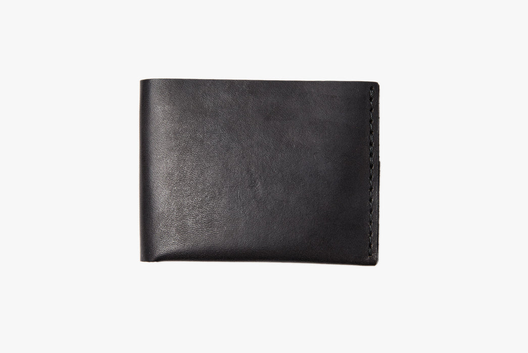 Black Bifold Wallet - Closed