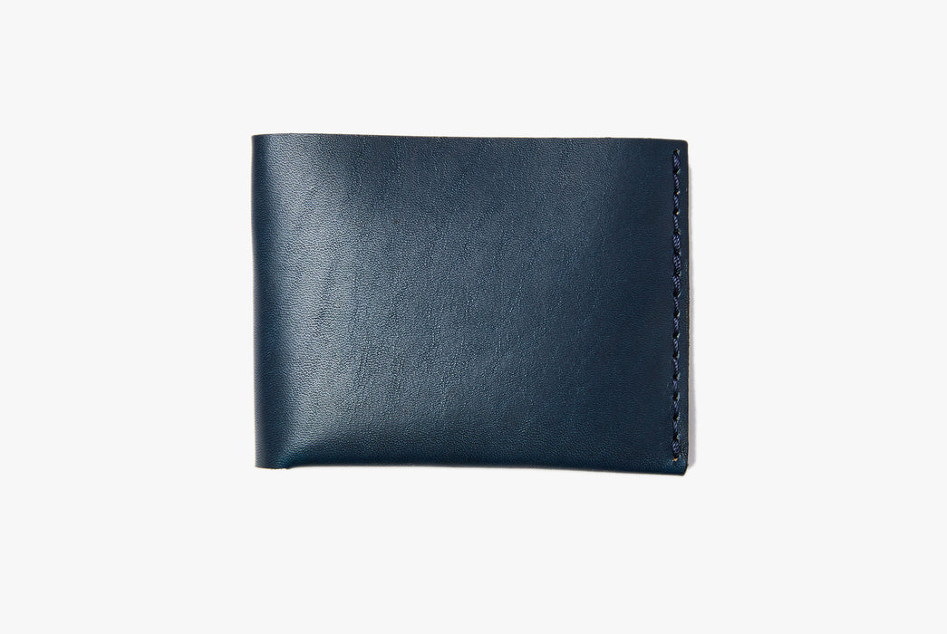 Blue Bifold Wallet - Closed