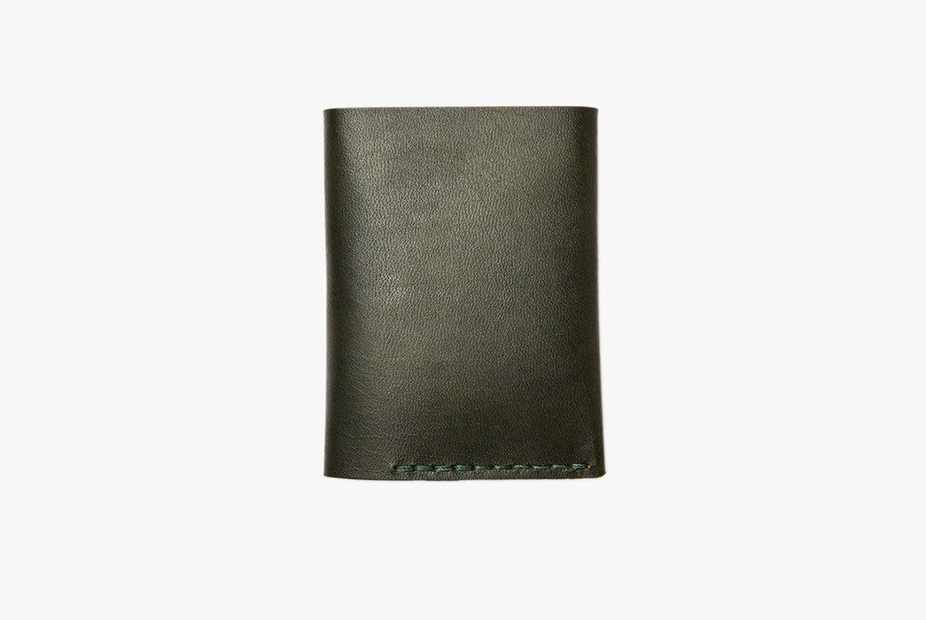 Green Bifold Wallet - Closed