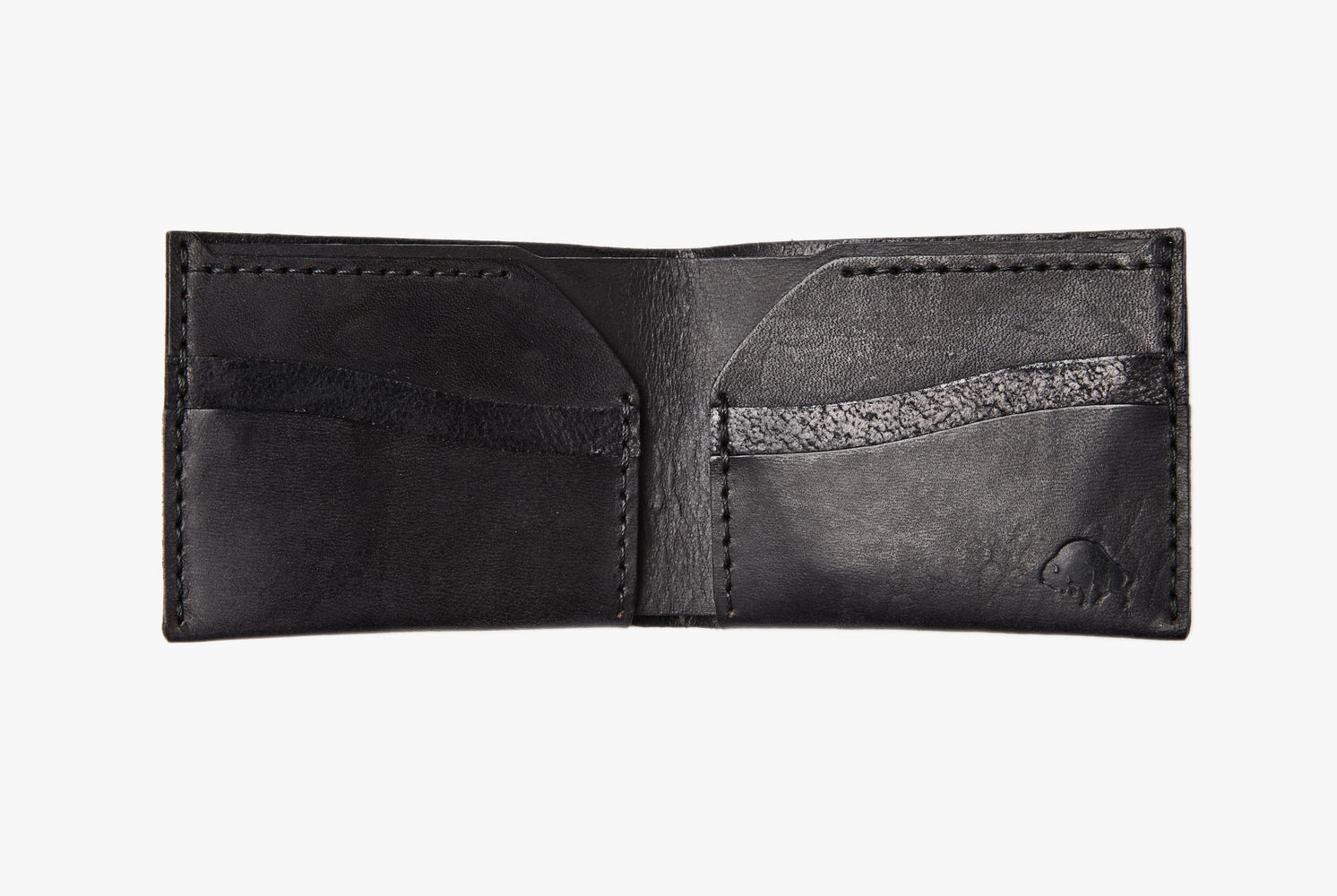 Black Bifold Wallet - Open