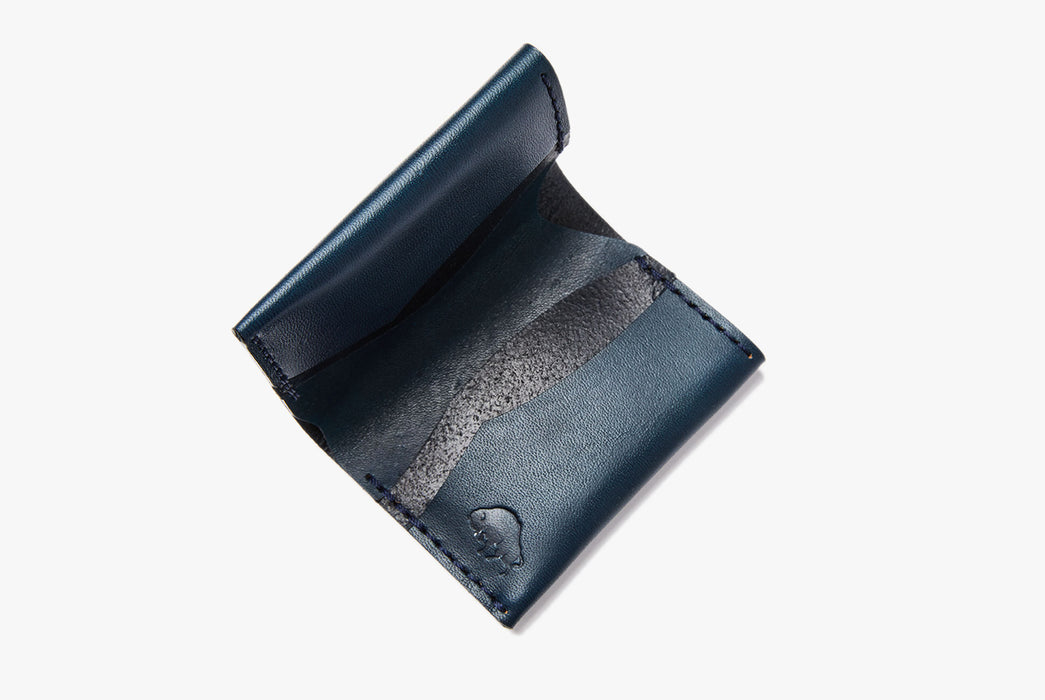 Blue Bifold Wallet - Open