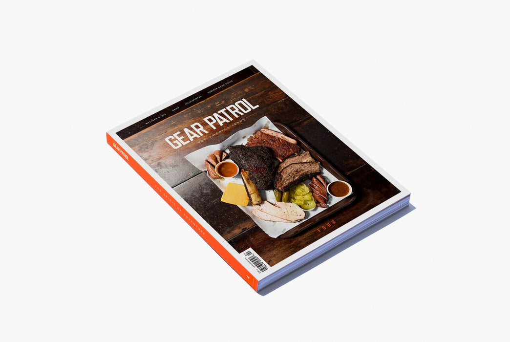 Gear Patrol Magazine: Issue Four - Alternate cover showing a spread of barbecued meat on a wooden table