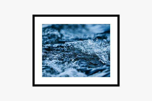 Stream Print - framed close-up of running water