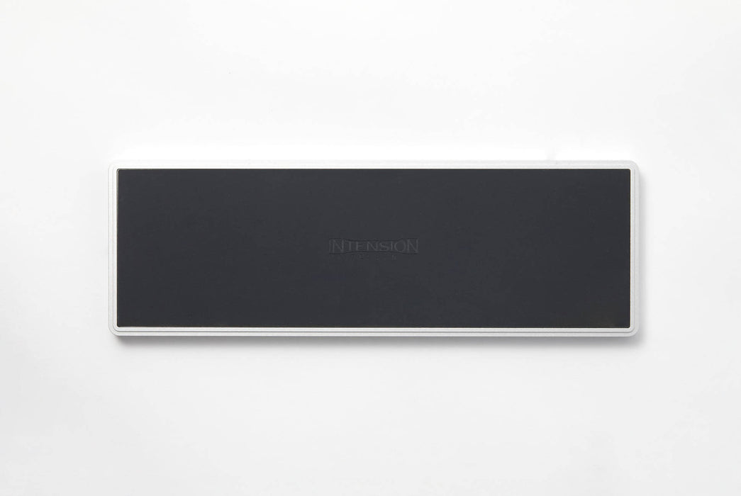 "Gray Intension Design 4x12 Tray  - bottom of tray showing ""Intension"" logo on a black background"