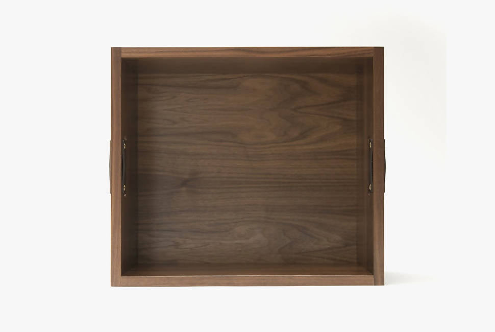Natural Walnut - Symbol Audio Dovetail Record Crate - Top view