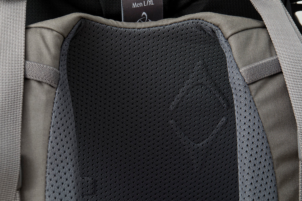 Mystery Ranch Scree 32 Backpack - Black - close-up view of padded mesh detail