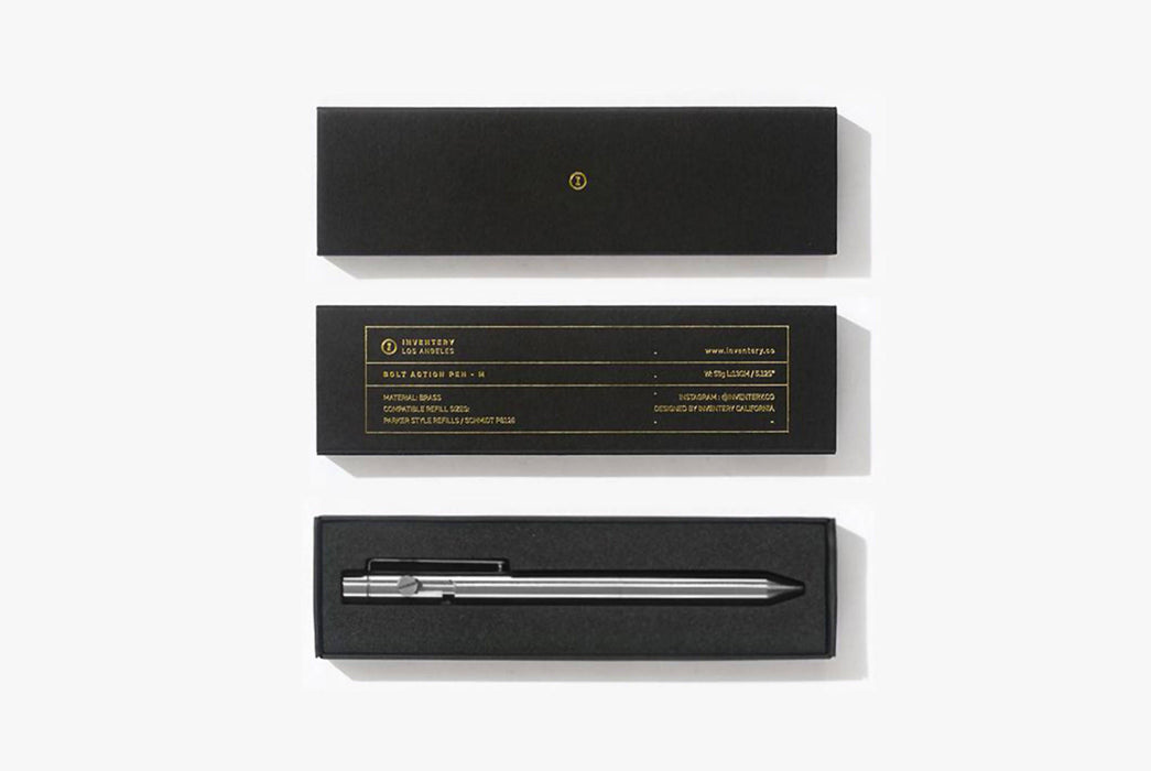 Inventery Bolt Action Pen Medium - Brushed