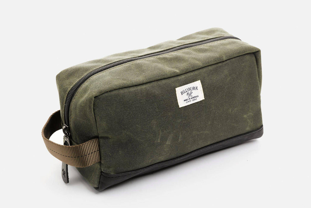 Green Toiletry Bag -  Front View