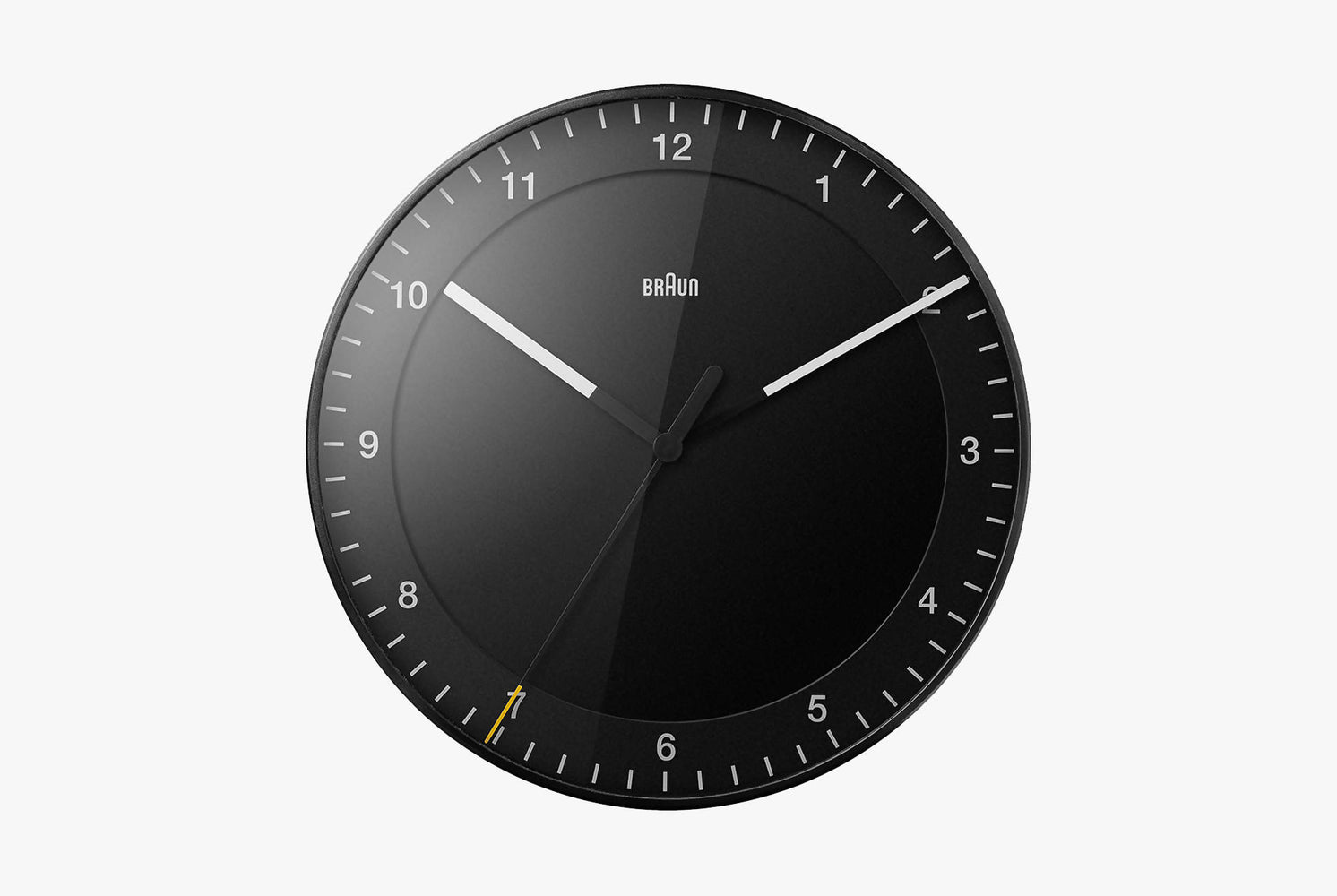 Black Analog Clock - Front View