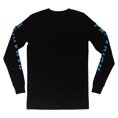 Smush Black / Blue LS T-Shirt - Paradigm Apparel