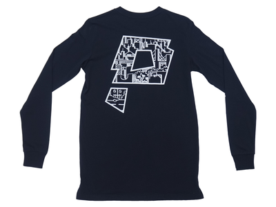 Swoop Navy LS T-Shirt - Paradigm Apparel
