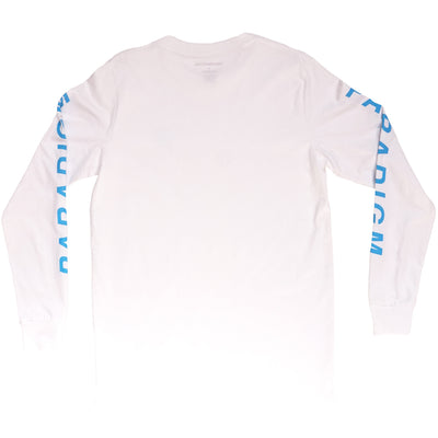 Smush White / Blue LS T-Shirt - Paradigm Apparel