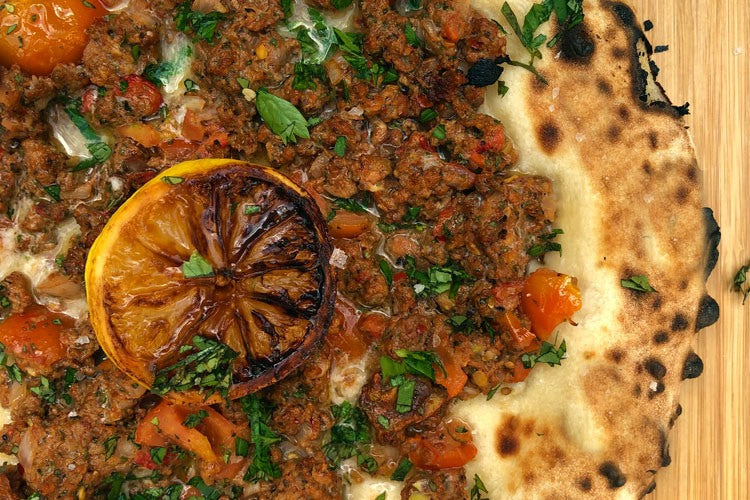 Turkish Lamb Pizza