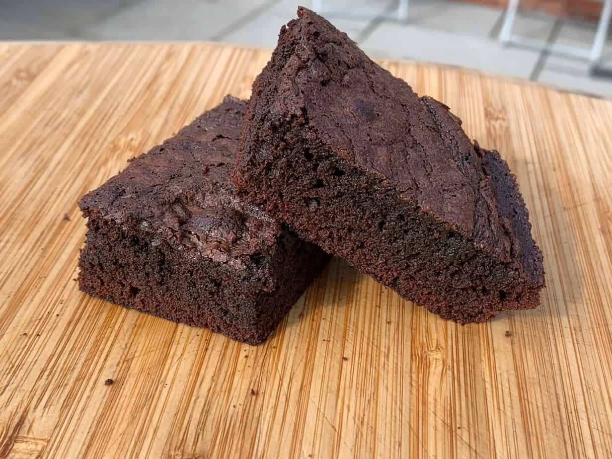 Skillet Baked Chocolate Brownies Featured Image