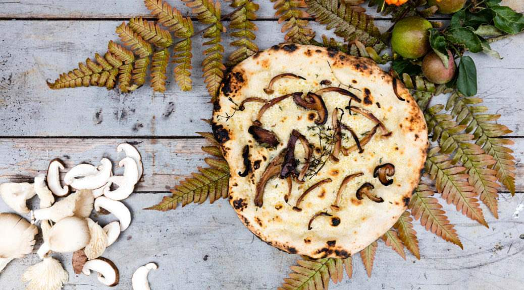 Bourbon Mushroom and Cheese Pizza Featured Image