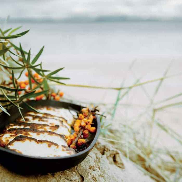 Grilled Halloumi with Sea Buckthorn