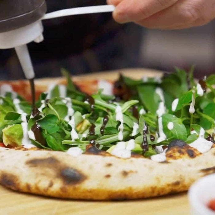 Mozzarella, Semi-dried Tomato & Fresh Salad Pizza