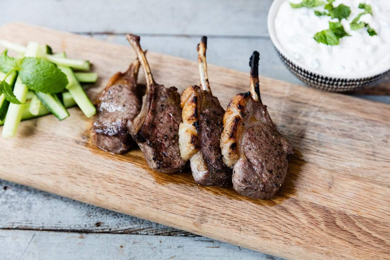 Marinated Lamb Cutlets with Tzatziki Featured Image