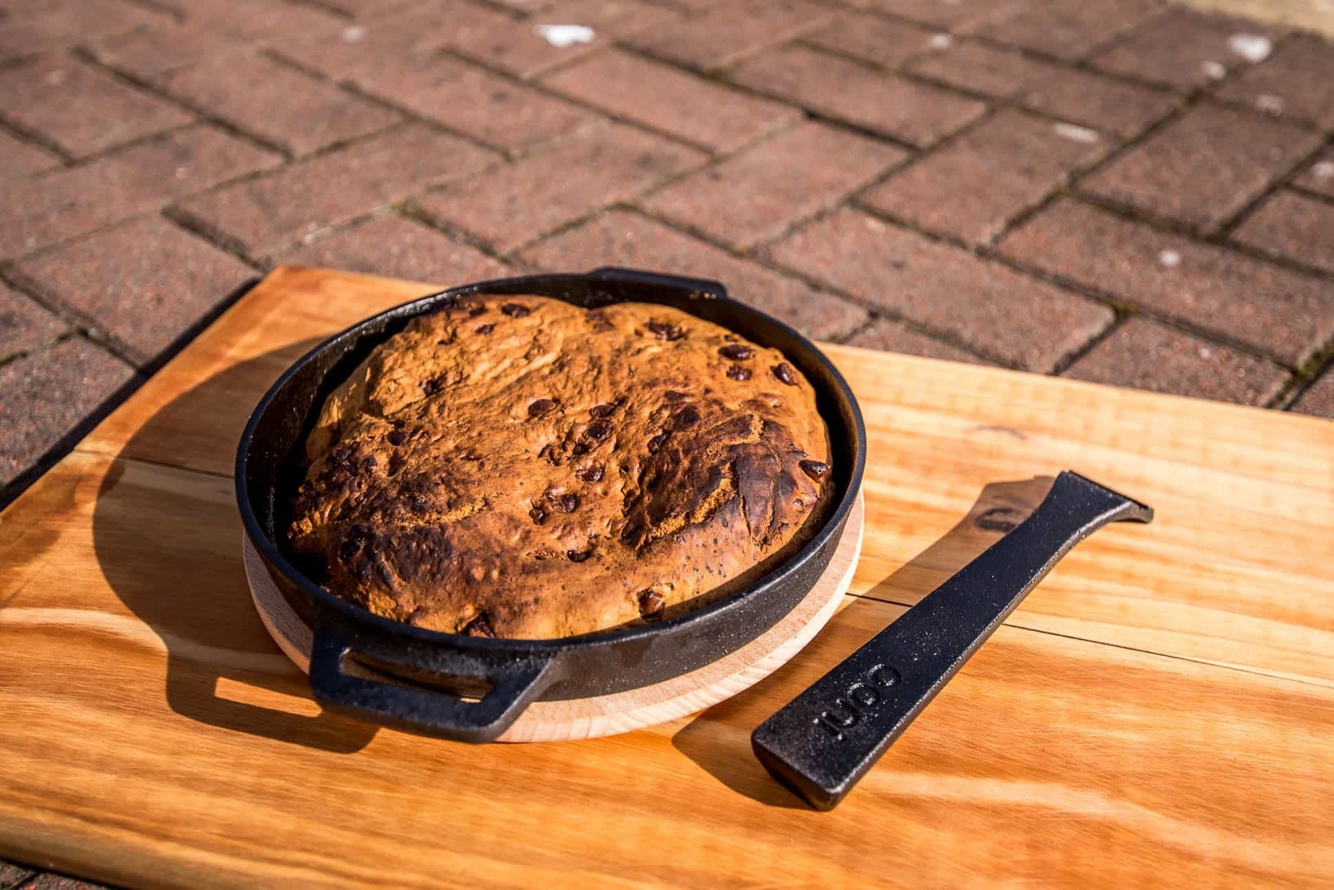 Baked Skillet Banana Bread Featured Image