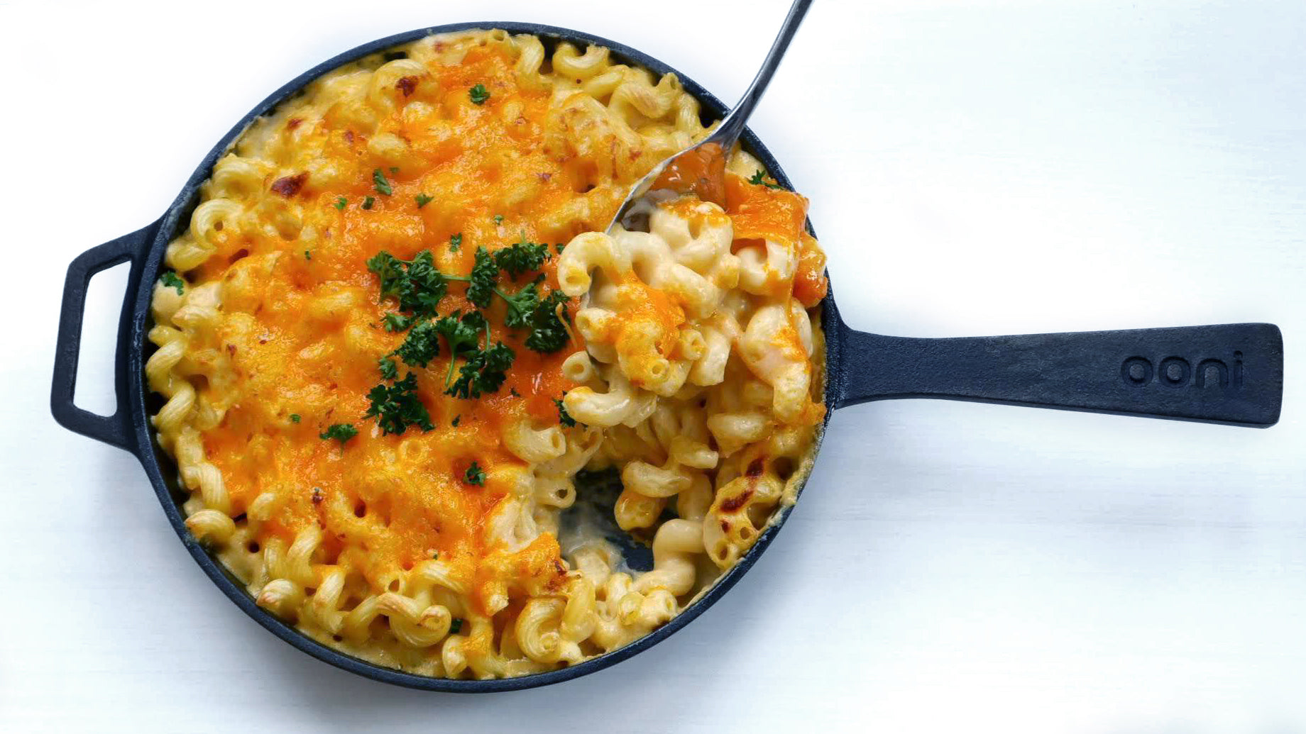 Skillet Baked Mac and Cheese Featured Image