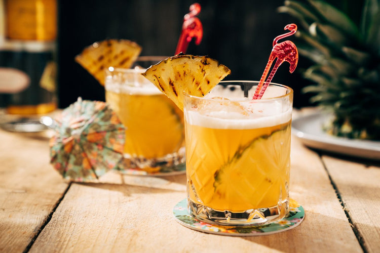 Fiery Pineapple Mezcal Cocktail