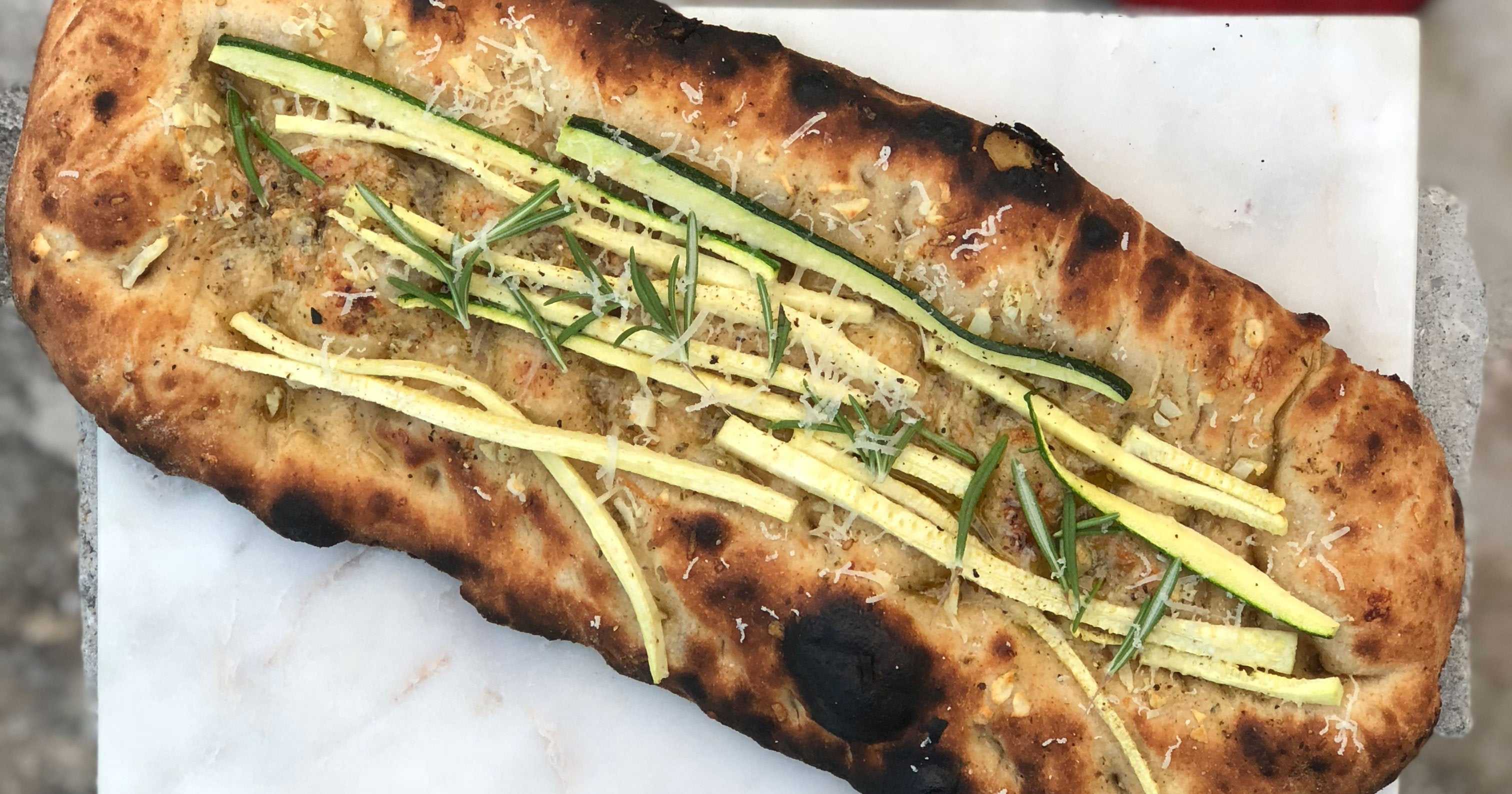 Courgette & Parmesan Focaccia Featured Image