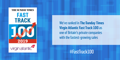 We're in the Sunday Times Virgin Atlantic Fast Track 100! Featured Image