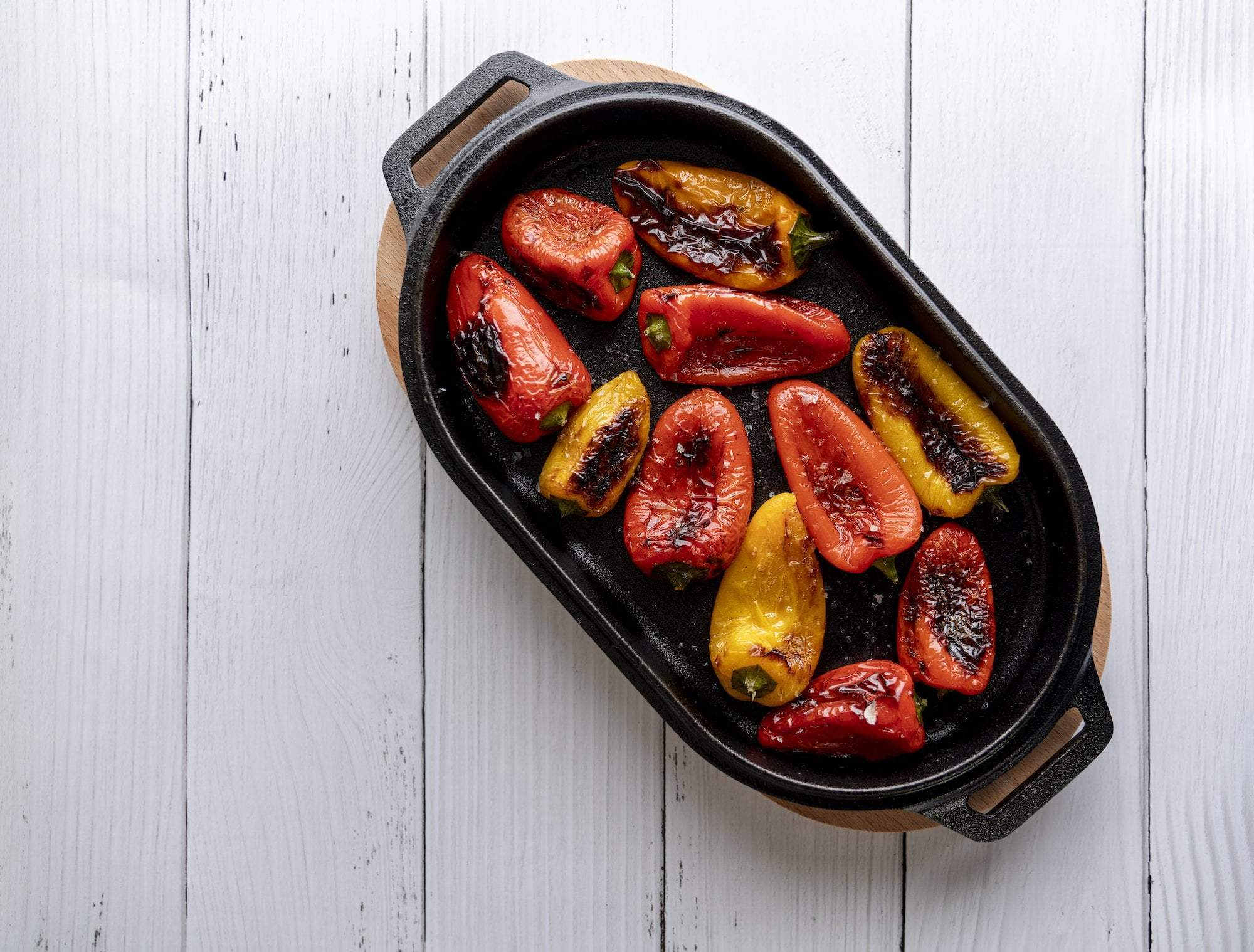 Roast Peppers with Salsa Verde Featured Image