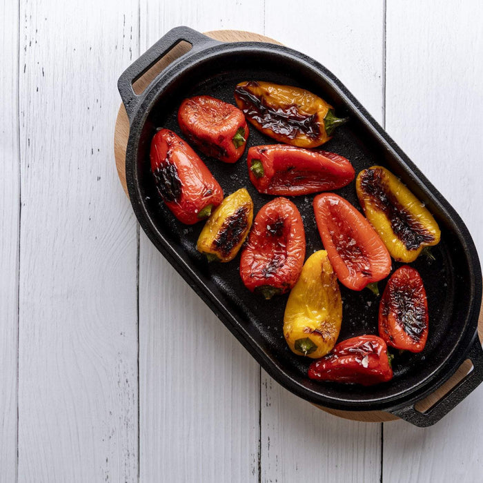 Roast Peppers with Salsa Verde