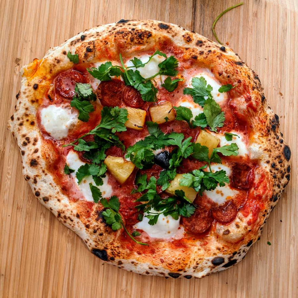 Chorizo and Lime-infused Pineapple Pizza