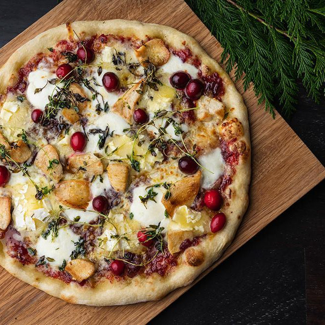 Roast Turkey, Camembert & Cranberry Pizza