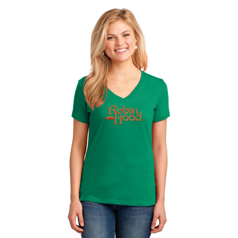 ROBIN HOOD Show Apparel - Ladies V-Neck Tee - LPC54V