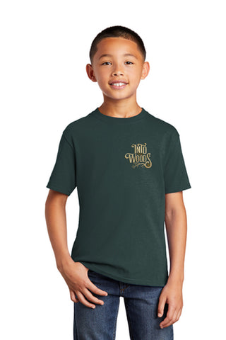 INTO THE WOODS JR Show Apparel - Youth Cotton Tee - Dk Green - PC54Y