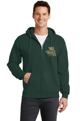 INTO THE WOODS JR Show Apparel - Adult Full Zip-Up Sweatshirt - Dk Green - PC78ZH