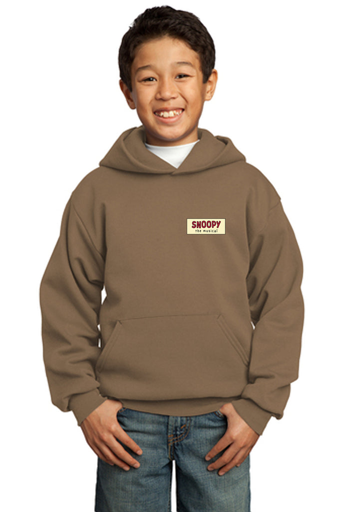 SNOOPY The Musical Show Apparel - Youth Pullover Sweatshirt - Woodland Brown - PC90YH