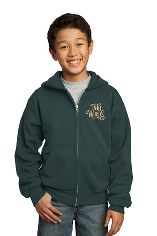 INTO THE WOODS JR Show Apparel - Youth Full Zip-Up Sweatshirt - Dk Green - PC90YZH