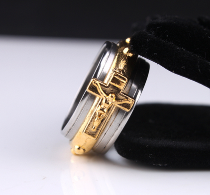 Gold Color Jesus Cross Ring Offer Value $37.90 Yours FREE!