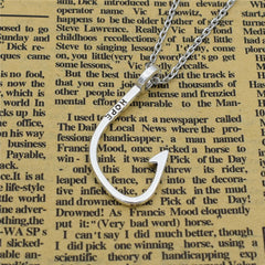 Silver Fishhook Necklace / Offer Value $40.50 Yours FREE!