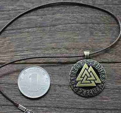 Valknut Pagan Amulet Necklace  / Offer Value $41.90 Yours $5 Only