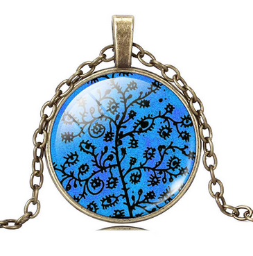 Tree Of Life Blue Pendant  / Offer Value $35.00 Yours FREE!