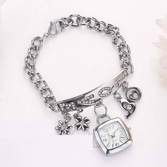 Love Rhinestone Stainless Steel Wrist Watch  / Offer Value $34.90 Yours Only $4.90!