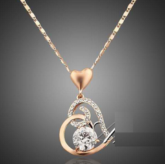 Crystal Heart Pendant Necklace  / Offer Value $39.90 Yours Only $4.99!