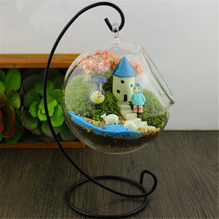 Semicircle Iron Shelf Micro Landscape Bottle Glass / Offer Value $37.95 Yours FREE!