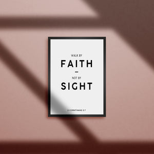 Tableau - walk by faith not by sight - 2 Corinthians 5.7