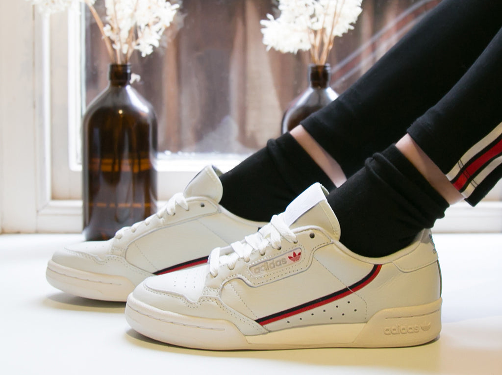 adidas Continental 80 Off White/Scarlett