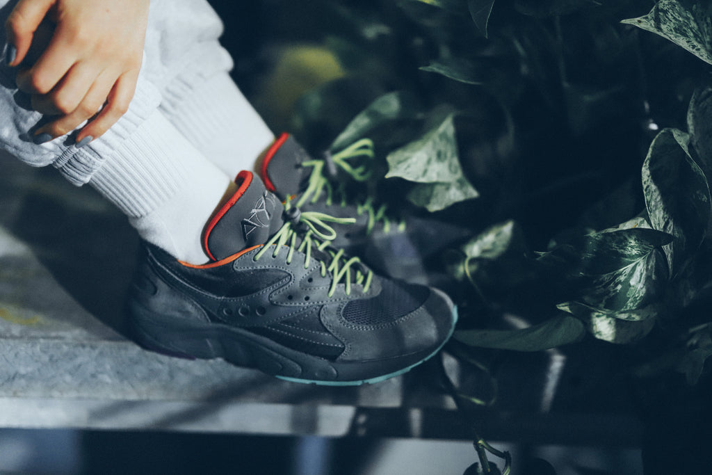 Raised By Wolves X Saucony Aya 'Asphalt Jungle'