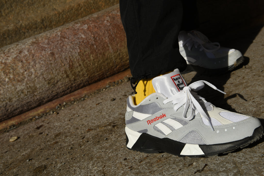 Have A Good Time x Reebok Aztrek Cool Shadow/Cool Grey DV6436