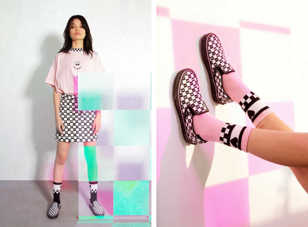 850ab38df65306 Vans x Lazy Oaf Classic Slip-On Checkerboard