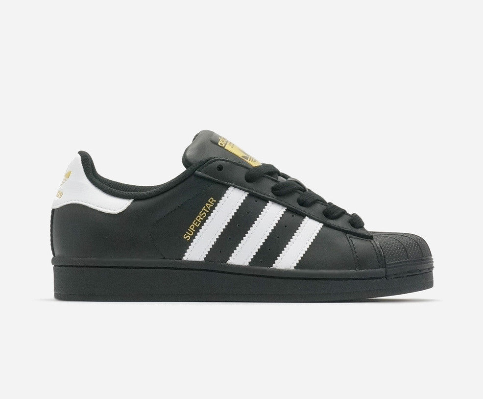 adidas superstar all black white sole